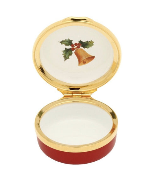 Halcyon Days Season's Greetings Christmas Enamel Box-Enamel Box-Sterling-and-Burke