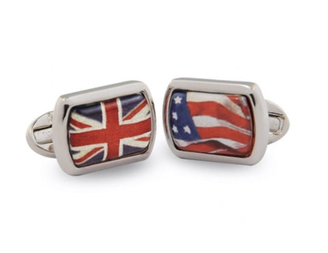 Halcyon Days A Very Special Relationship Cufflinks in Palladium-Enamel Cufflinks-Sterling-and-Burke