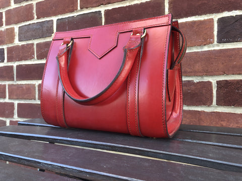 Sterling & Burke Petite Beatrice Handbag in Red-Handbag-Sterling-and-Burke