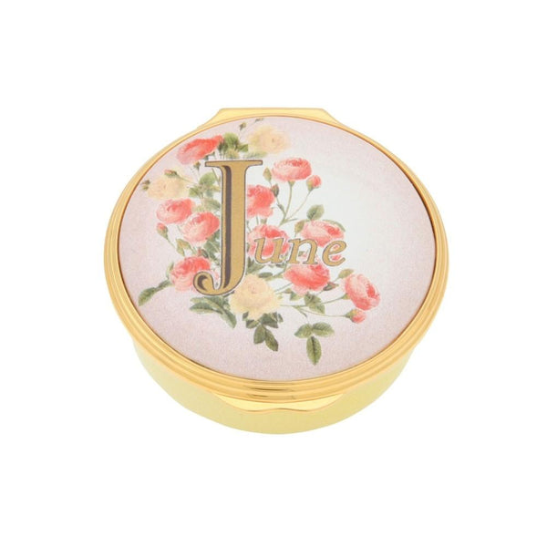 "Halcyon Days ""June"" Enamel Box-Enamel Box-Sterling-and-Burke"