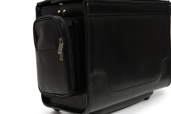 Counselor 18 Inch Wheeled Leather Catalog Case-Catalog Case-Sterling-and-Burke
