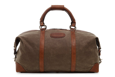 Twain Waxed Canvas and Leather Duffle, 22 Inch-Duffle-Sterling-and-Burke