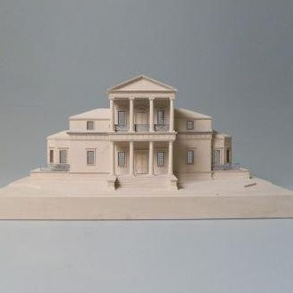 Limited Edition The First Monticello Sculpture | Custom Monticello Plaster Model | Extraordinary Quality and Detail | Made in England | Timothy Richards-Desk Accessory-Sterling-and-Burke