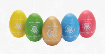 2018 White House Easter Egg | President and Melania Trump | The Great Seal | Presidential Seal-Easter Egg-Sterling-and-Burke