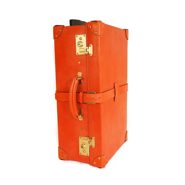 Leather Trunk Suitcase | 28 Inch | Wheels and Trolley Option | Hand Stitched | Luxury Travel | English Bridle Leather | Sterling and Burke-Suitcase-Sterling-and-Burke
