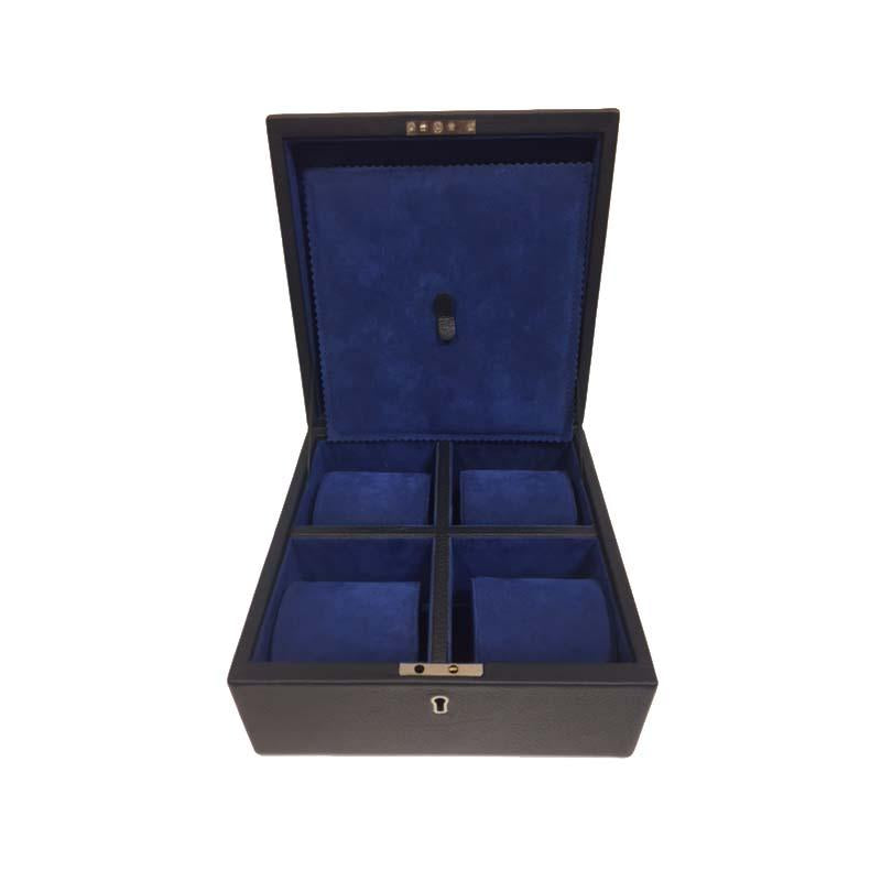 Watch Box, BESPOKE | English Bridle Leather and Suede | Individual Pillows | Multiple Watches | Sterling and Burke-Watch Box-Sterling-and-Burke