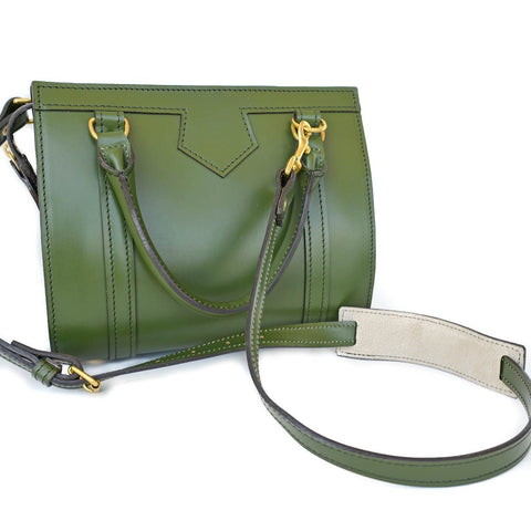 Petite Beatrice Handbag, Cypress | Hand Stitched | Green English Bridle Leather | Small Luxury Handbag-Handbag-Sterling-and-Burke