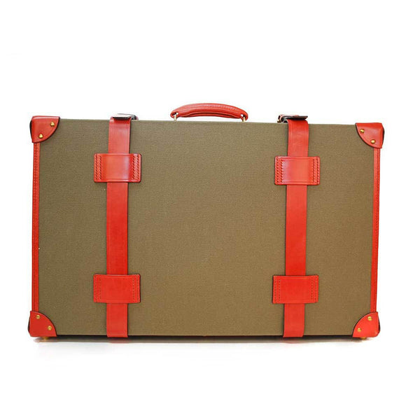 Canvas Trunk Suitcase, 22 Inch | Wheels and Trolley Option | Hand Stitched | Sterling and Burke-Suitcase-Sterling-and-Burke