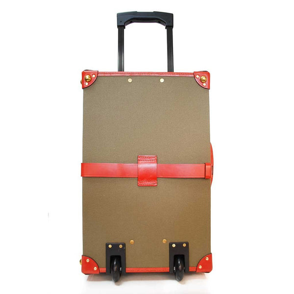 Canvas Trunk Suitcase | 18 Inch Carry On | Wheels and Trolley Option | Hand Stitched | Sterling and Burke-Suitcase-Sterling-and-Burke