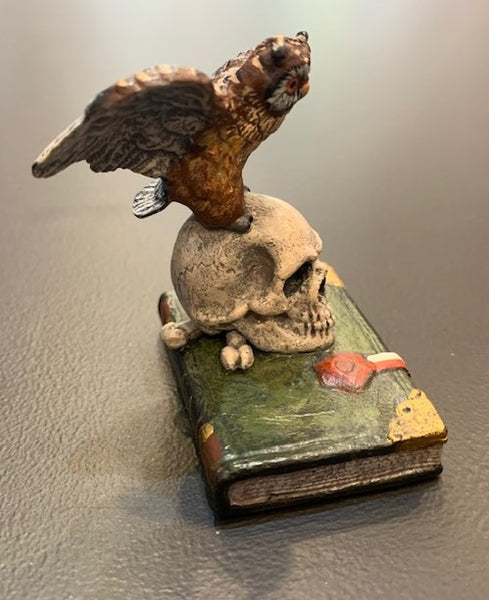 Owl on Scull - Book | Viennese Bronze