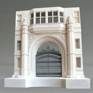 Phelps Gate- Yale University Sculpture | Custom Phelps Gate- Yale University Plaster Model | Extraordinary Quality and Detail | Made in England | Timothy Richards-Desk Accessory-Sterling-and-Burke