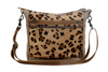 Leopard hair on and canvas bag