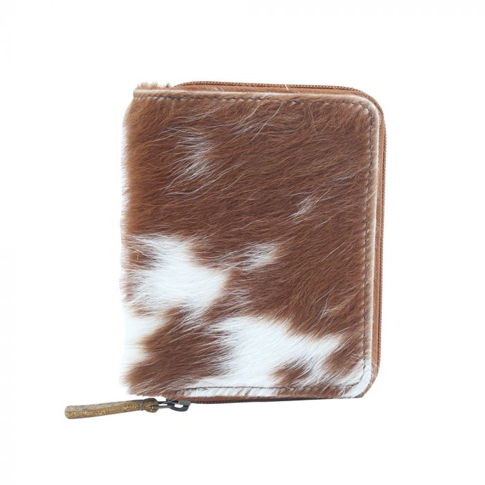 Patch Play Leather and Hairon Wallet