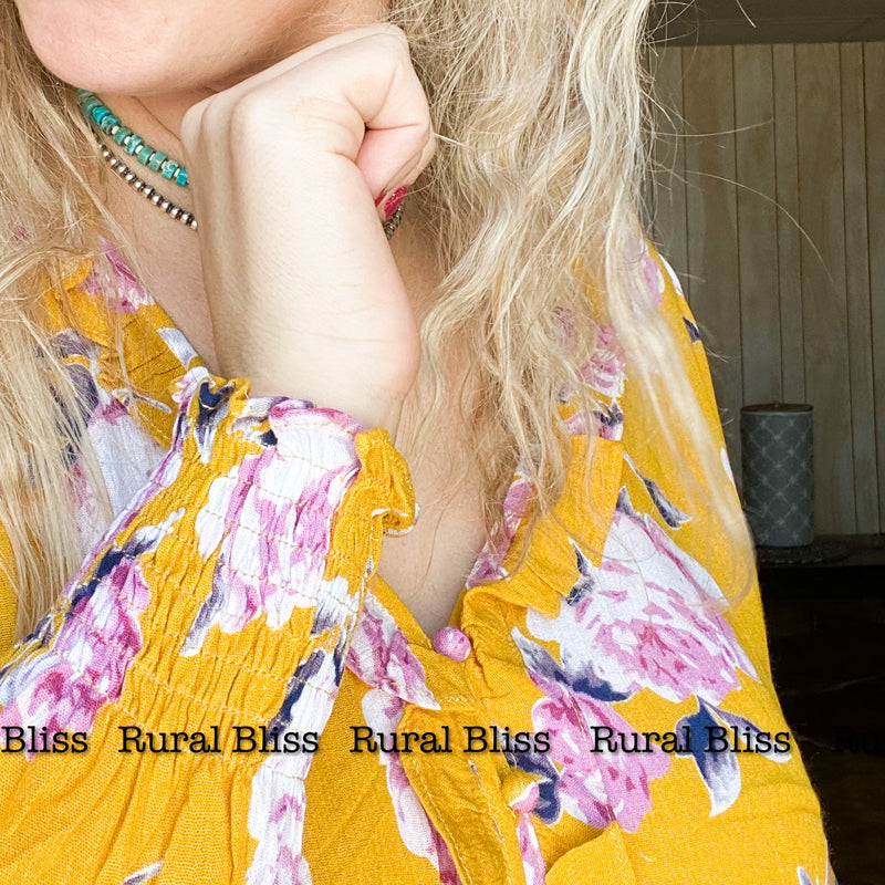 Sunny Spring Button Up Top