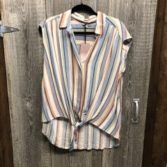 $5 Sale 2800- STRIPED SHORT SLEEVE
