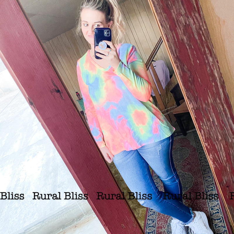 Neon Beams Long Sleeve Top