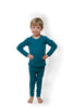 HOCOSA Children's Long Underwear Shirt with Long Sleeves in Organic Cotton/Hemp Blend