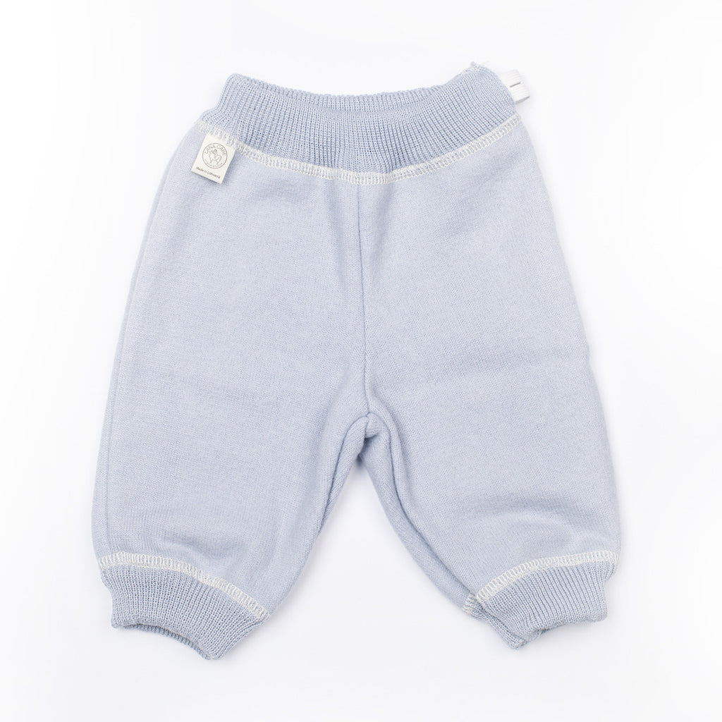 Light Blue LANACare Baby/Toddler Pants in Felted Organic Merino Wool