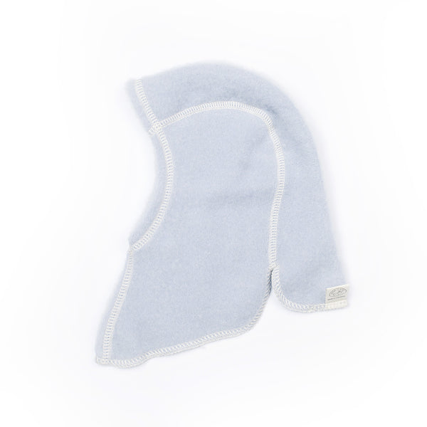 Light Blue LANACare Nelson Hat - Baby (Balaclava) in Organic Merino Wool