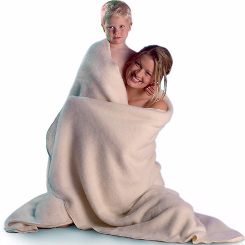 LANACare Grown-Up Blanket/Throw in Soft Organic Merino Wool