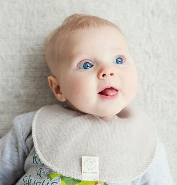 z FACTORY OUTLET LANACare Teething (Drooling) Bib in Soft Organic Merino Wool