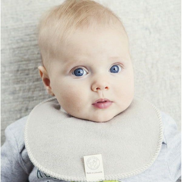 x FACTORY OUTLET LANACare Teething (Drooling) Bib in Soft Organic Merino Wool