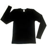 "z FACTORY OUTLET HOCOSA ""Sport"" Organic Merino Wool/Silk Long-Sleeve Undershirt for Men or Women, Round-neck"