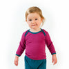 HOCOSA Organic Wool/Silk Baby Shirt with Long Sleeves, Envelope Neckline  $36.90 - $40.90