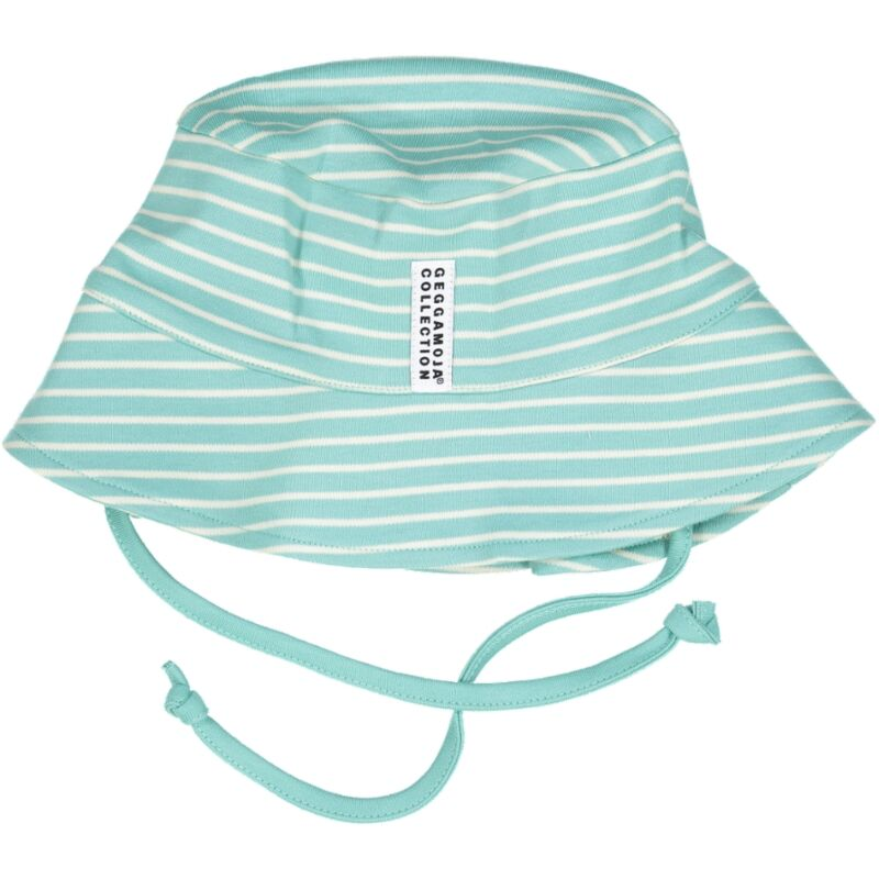 x FACTORY OUTLET Geggamoja® Organic Cotton Sunny Hat in Pink, Green & Blue