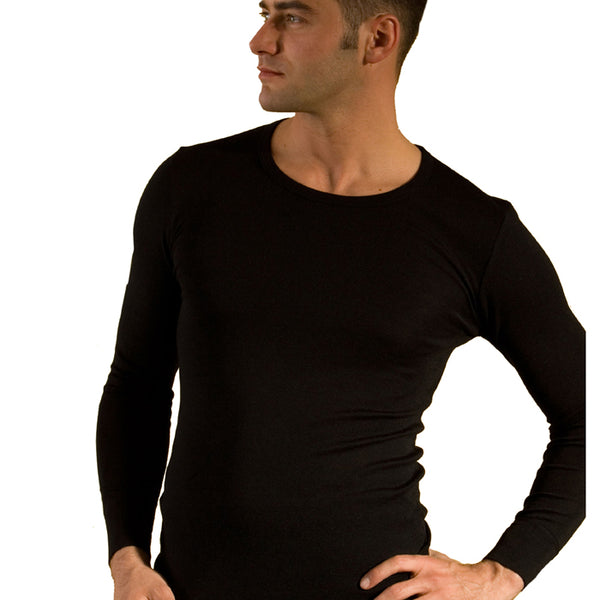 "zFACTORY OUTLET HOCOSA ""Sport"" Organic Merino Wool/Silk Long-Sleeve Undershirt for Men or Women, Round-neck, $74.90 - $79.90"