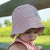 Geggamoja® Organic Cotton Sunny Hat in Pink, Green & Blue