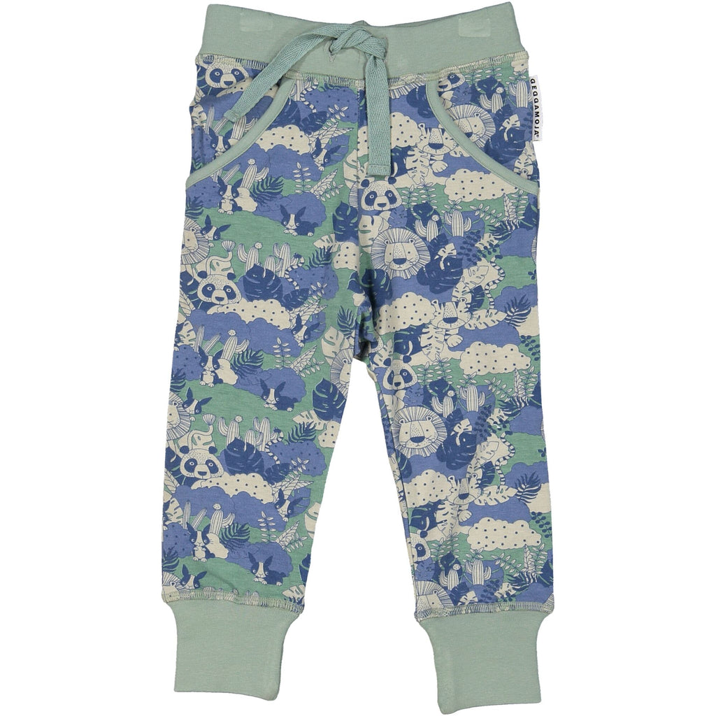 z FACTORY OUTLET Geggamoja® Bamboo/Cotton Baby Pants - JUNGLE