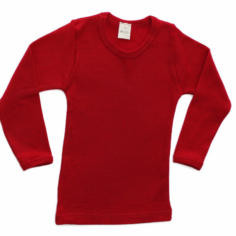 Hocosa Children's Long Underwear Shirt with Long Sleeves in Organic Wool