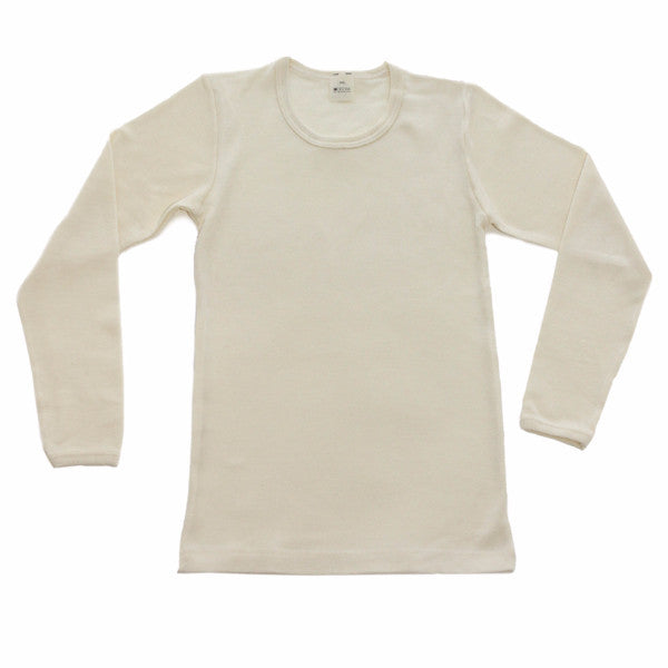 x FACTORY OUTLET HOCOSA Kid's Organic Wool/Silk Undershirt with Long Sleeves