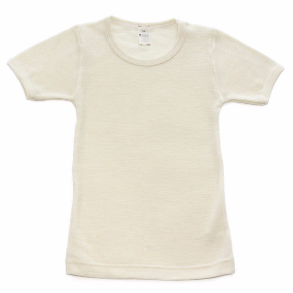 xFACTORY OUTLET Hocosa Kids' Organic Wool/Silk Undershirt with Short Sleeves