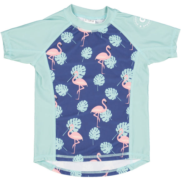 Geggamoja® UV SPF50 Swim Shirt FLAMINGO