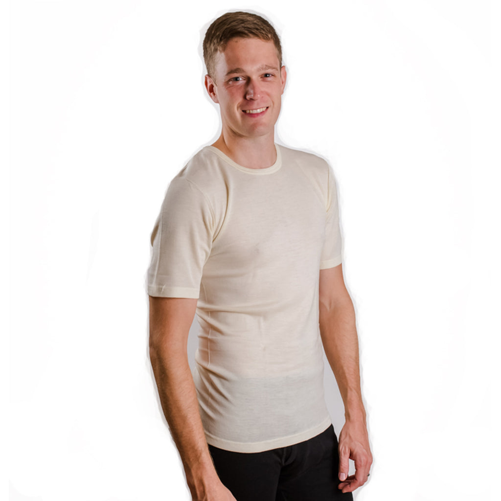 "HOCOSA ""Sport"" Organic Merino Wool Short-Sleeve Undershirt for Men or Women"