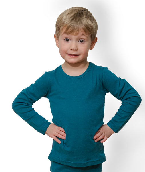 x FACTORY OUTLET HOCOSA Kid's Organic Cotton/Hemp Undershirt with Long Sleeves