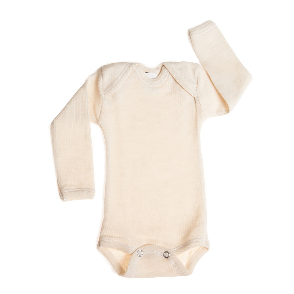 Hocosa Organic Wool Snap-Bottom Shirt with Long Sleeves  $35.90 - $39.90