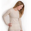 "HOCOSA ""Sport"" Organic Merino Wool Long-Sleeve Undershirt for Men or Women, Round-neck"