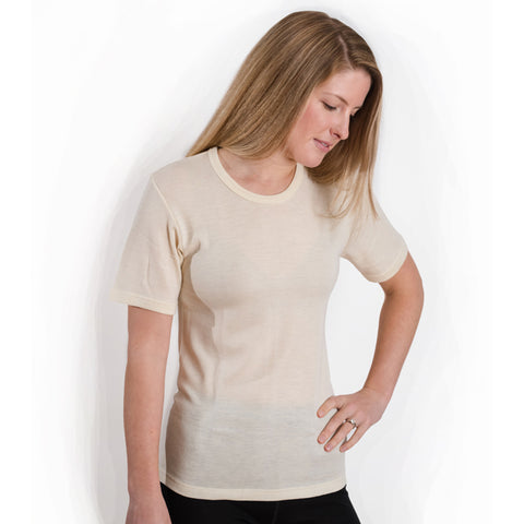 "HOCOSA Men or Women's Organic Merino Wool Short-Sleeve Undershirt ""Sport"""