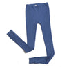 Hocosa Organic Wool/Silk Long-Underwear Pants, Unisex, Blue