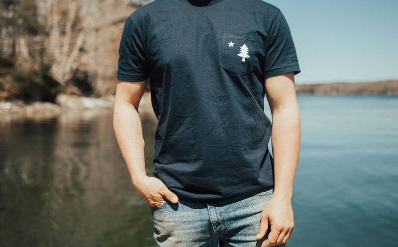 Old Maine Flag Pocket T