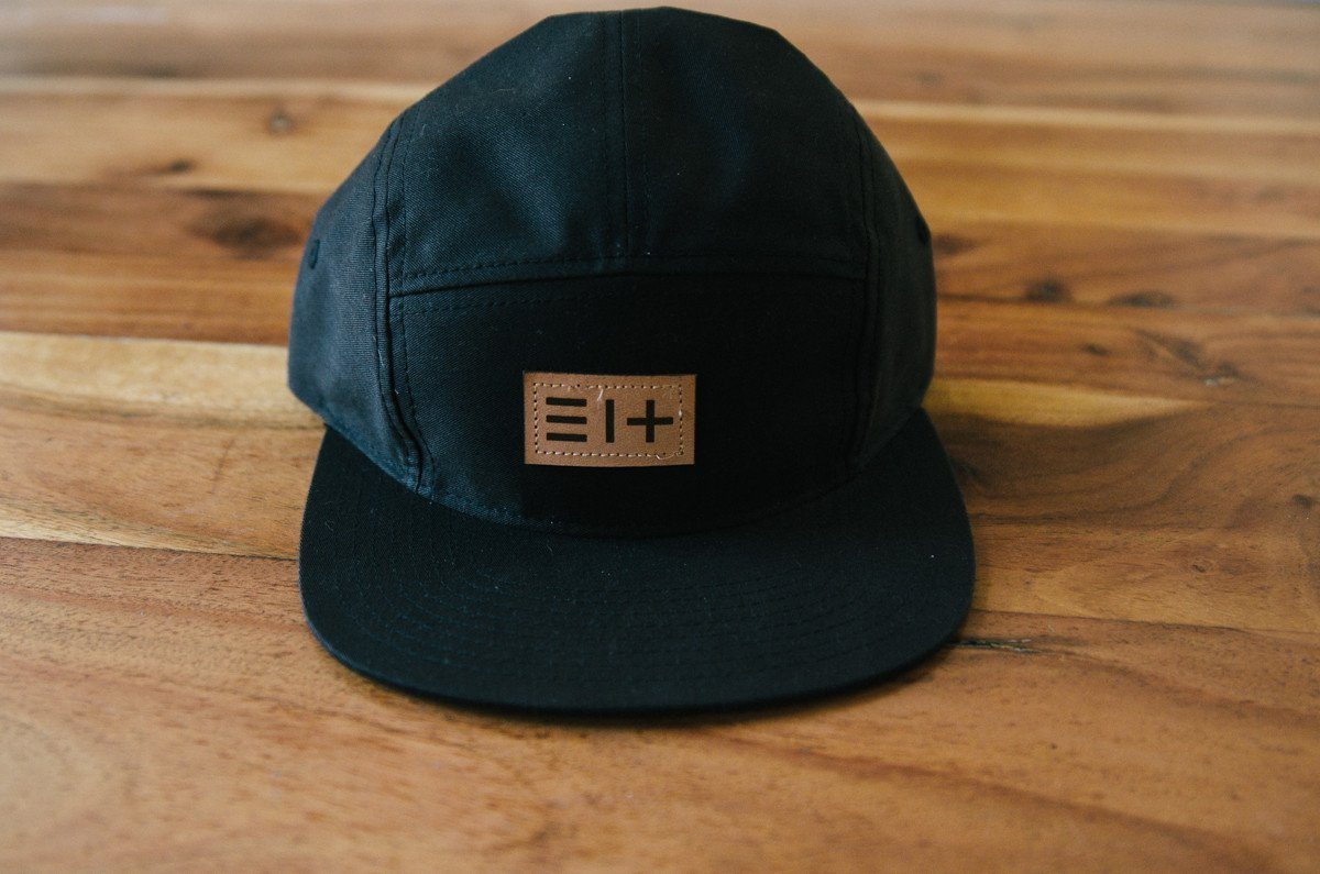 HAT - BLACK FIVE PANEL HAT- 3.14 LOGO (COMING SOON)