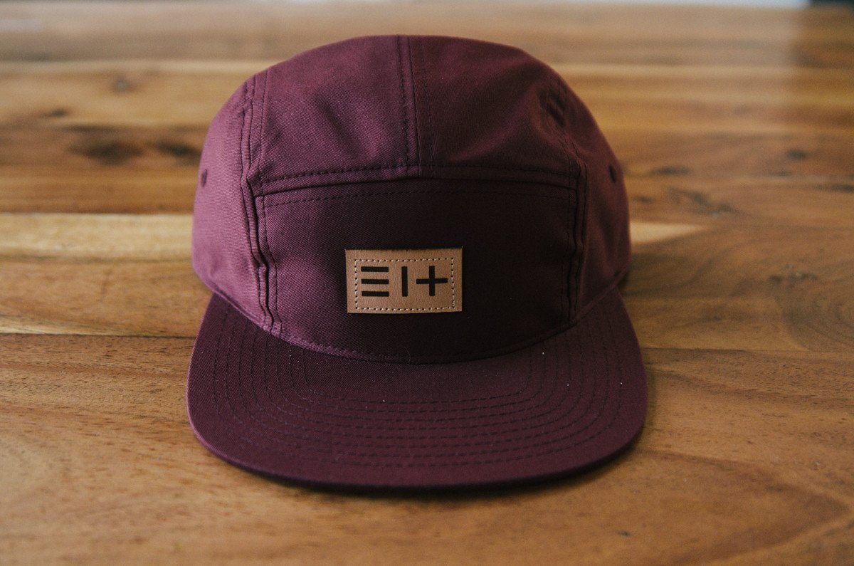 HAT - BURGUNDY FIVE PANEL HAT 3.14 LOGO (COMING SOON)