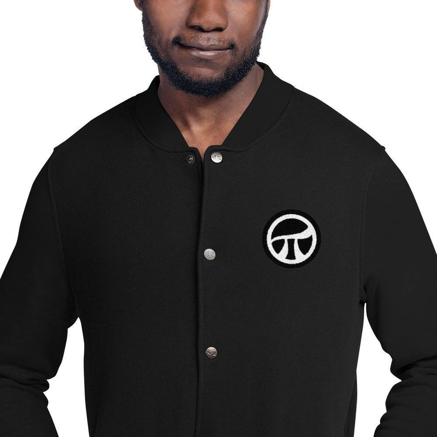 Pi Movement Embroidered Champion Bomber Jacket