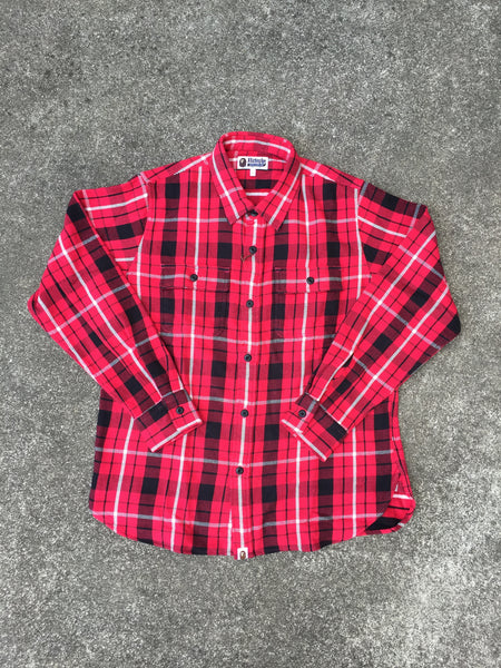 SHARK FLANNEL CHECK SHIRT (RED)