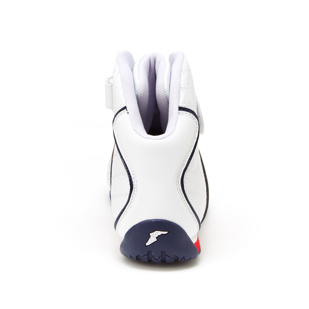 CLUTCH-E in White & Black | RACING | Goodyear Footwear USA