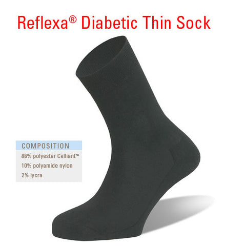 Reflexa® Diabetic Thin Sock