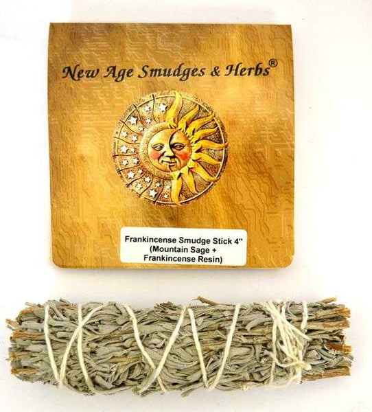 Smudge - Frankincense Stick 4in - High Ho Gems and Crystals